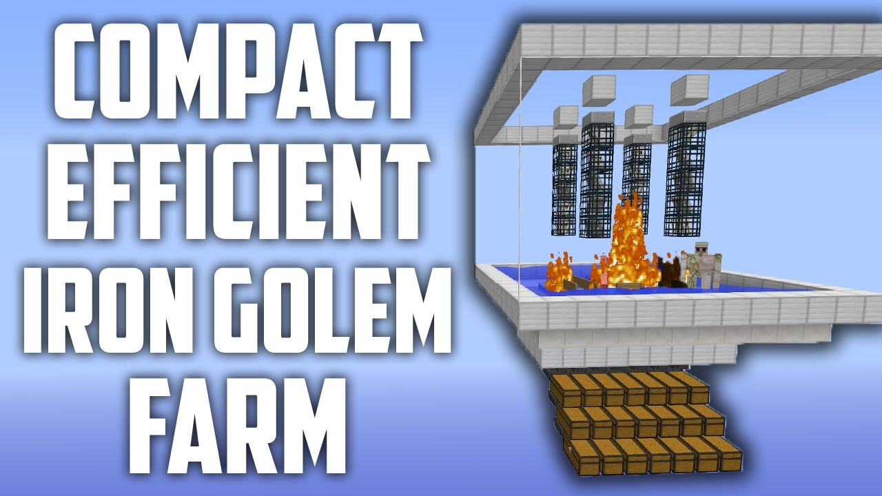 Tiny Iron Golem Farm - Simple, Compact & Efficient [Factions Spawner  Tutorial!]