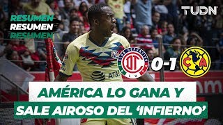 Resumen Toluca 0 - 1 América | Apertura 2019 - Jornada 4 | TUDN
