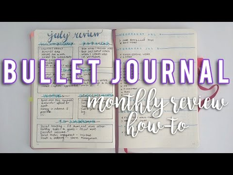 BULLET JOURNAL MONTHLY REVIEW| How to bullet journal | Sam Granger