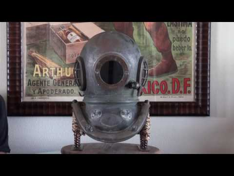 Siebe Gorman Admiralty Pattern Royal Navy Antique Diving Helmet