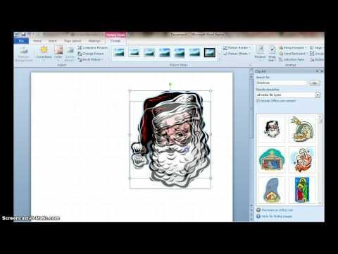 How to Make a Christmas Card using Microsoft Word