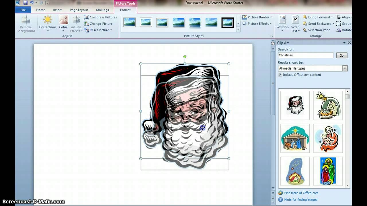 How to Make a Christmas Card using Microsoft Word YouTube