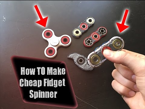 how to take out the barings from a fidget spinner