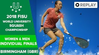 🔴   SQUASH - Individual Finals - 2018 FISU World University Champs
