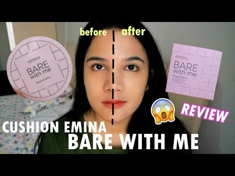 EMINA MINERAL CUSHION KATANYA BAGUS? || REVIEW || BARE WITH ME