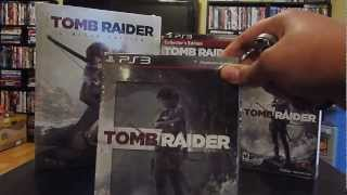 Tomb Raider (2013) PS3 Collector's Edition, US Steelbook, Artbook and LE Guide Unboxings 1/2