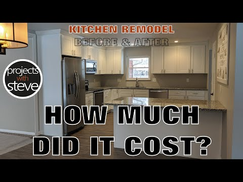 HOW MUCH DOES A NEW KITCHEN COST?? I TELL YOU EXACTLY WHAT I PAID! - KITCHEN REMODEL BEFORE & AFTER