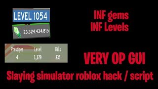 SLAYING SIMULATOR ROBLOX HACK / GUI | INF GEMS | INF LEVELS | INF PETS | AUTO OPEN EGGS!