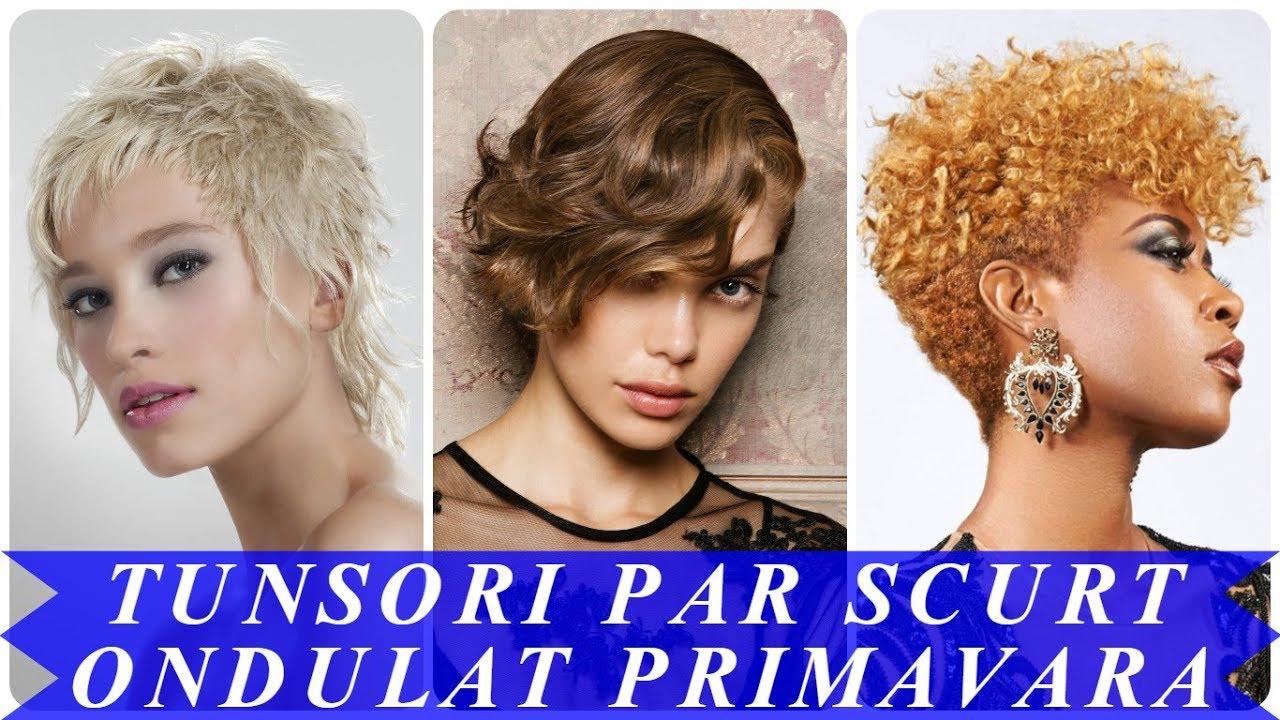 Modele De Tunsori Par Scurt Ondulat Primavara 2018 Youtube