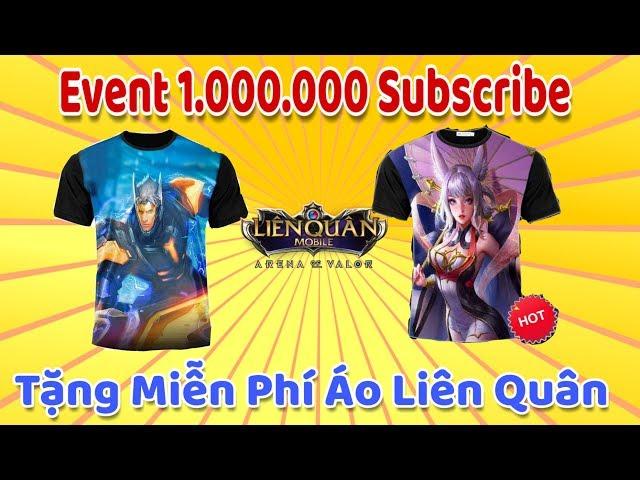 [Gcaothu] Hướng dẫn nhận miễn phí áo Liên Quân Mobile - Event 2 Chúc mừng kênh Youtube 1 triệu Sub