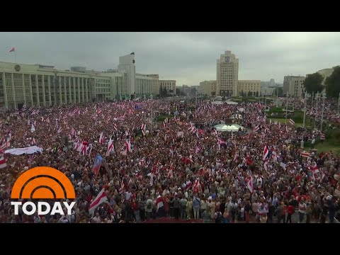 100,000 Protesters Demand Lukashenko Resign As President Of Belarus | TODAY