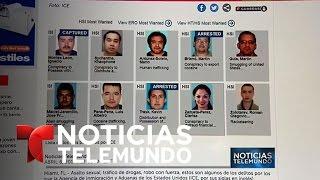Hispanos encabezan la lista de los más buscados por ICE | Noticiero | Noticias Telemundo