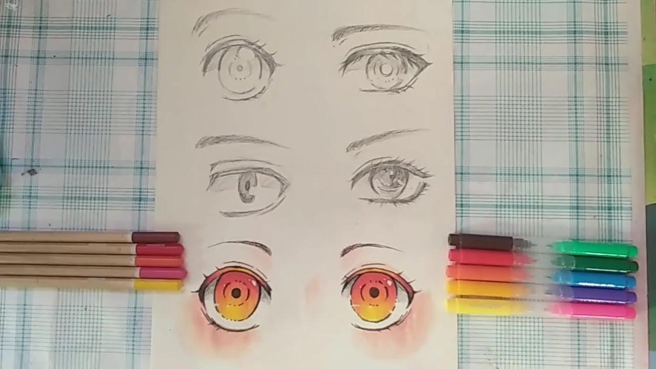 Hướng dẫn vẽ mắt cho nhân vật anime (phần 1)