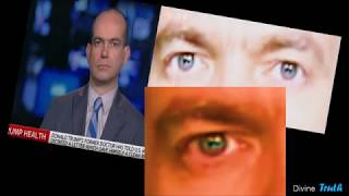The human eye does not have split pupils..Summary of shapeshifters caught on tape