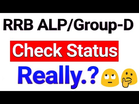 Really Check RRB ALP/Group d Form Status / railway group d form status