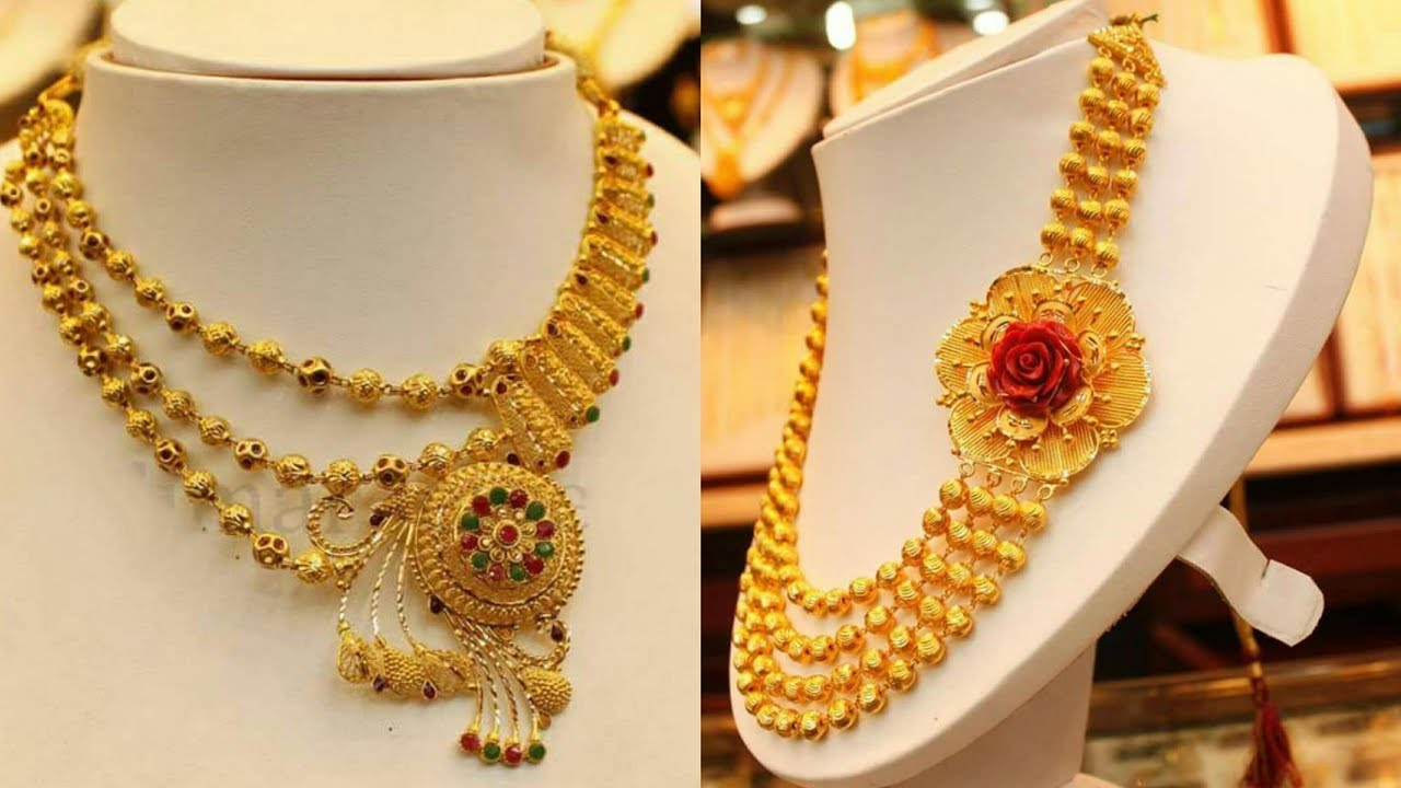 Bridal Gold Jewellery Short Necklaces Designs Huge Collection YouTube