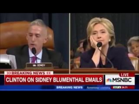 Trey Gowdy tells Hillary Clinton that she's going to jail