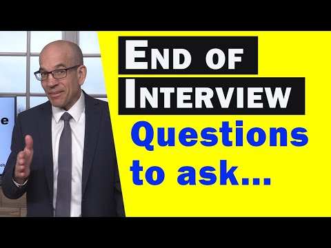 What to Say At the End of a Job Interview