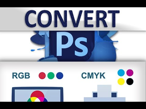 convert CMYK files into RGB in Photoshop