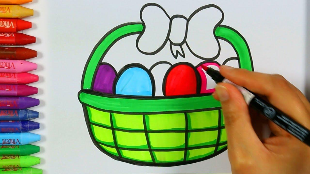 Yumurta Sepeti Cizimi Yumurta Sepeti Renklendirme Sayfasi