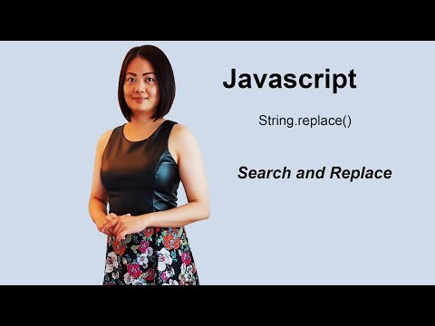 Search And Replace Using Javascript String.replace()