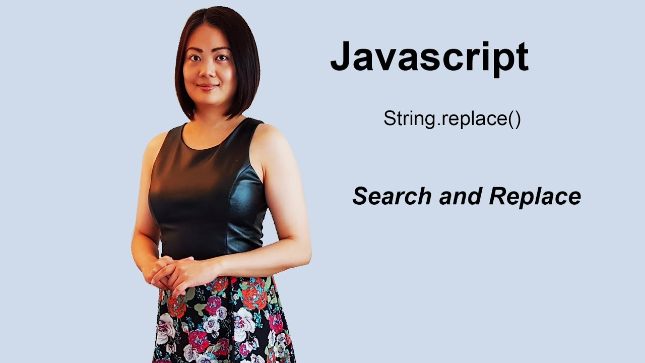 Search and replace using javascript String replace()