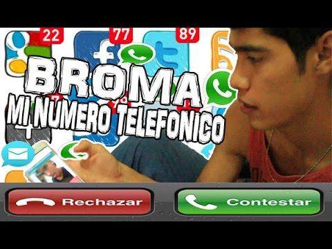 BROMA FILTRAN MI NUMERO TELEFÓNICO EN VENGANZA