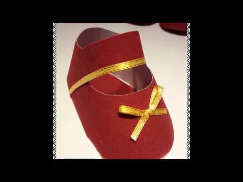 DIY Paper shoes baby shower Souvenir