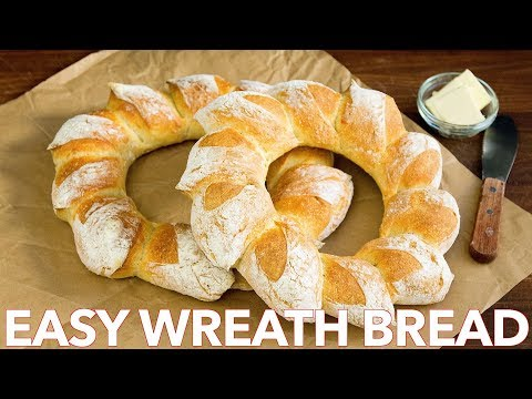 How To Make Easy Holiday Wreath Bread Recipe