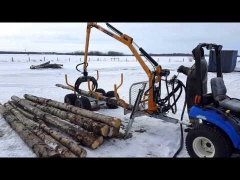Range Road RR700 ATV Log Trailer with Hydraulic forwarder crane