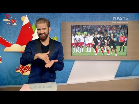 FIFA WC 2018 - CRO vs. DEN – for Deaf and Hard of Hearing - International Sign