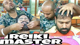 Reiki Master Head Massage, Face Wash With Neck Cracking