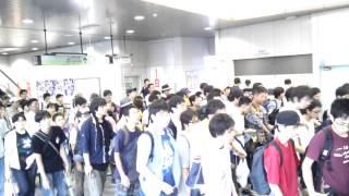 【C88】始発到着時の国際展示場正門前駅の様子【1日目】