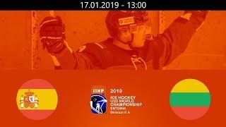 ESP vs LTU - 2019 IIHF WM20IIA - Tallin, Estonia – 17.01.2019