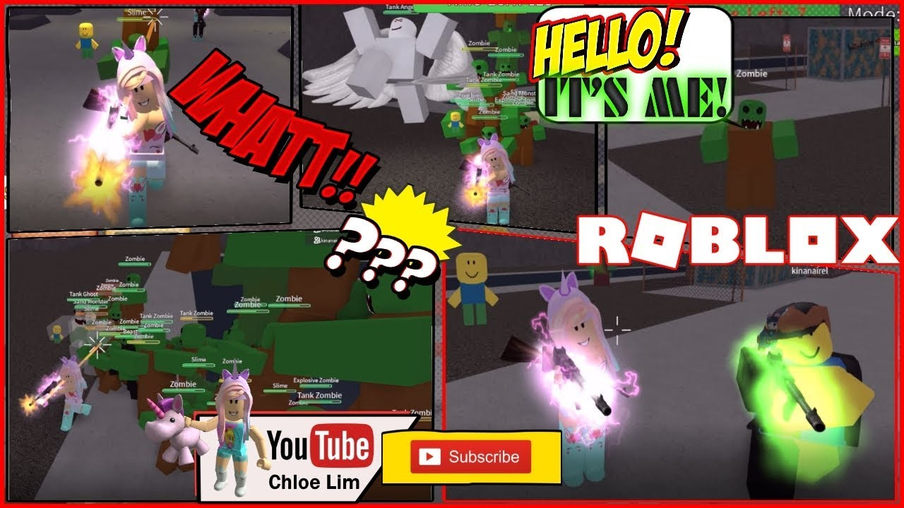 Roblox Gameplay Zombie Attack Playing Hard Mode And Huge Pile