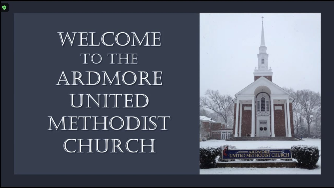 January 10th Online Service Ardmore UMC PA