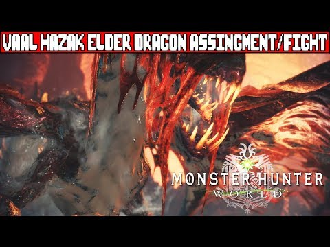 MONSTER HUNTER WORLD Vaal Hazak Elder Dragon Boss Fight