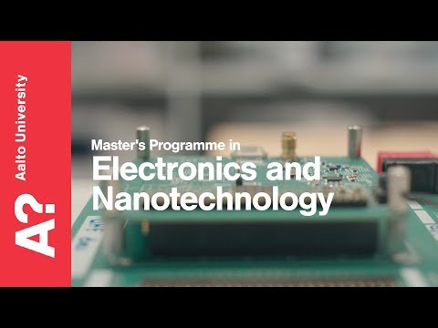 Master's Programme In Electronics And Nanotechnology