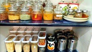 Kitchen Pantry Organization / கிச்சன் Organization - part 2 / Kitchen Shelf Arrangement