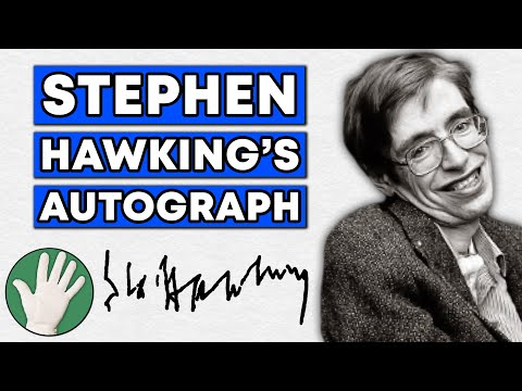 Stephen Hawking's Autograph - Objectivity #8