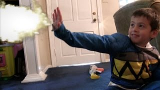 LITTLE HEROES KID BLUE POWER RANGER VS INVISIBLE GIRL | EPIC REAL LIFE SUPERHERO SURPRISE PARTY