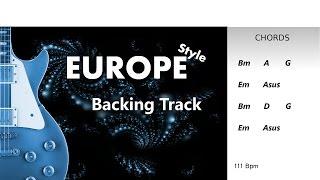 europe style guitar backingtrack bm 111 bpm highest quality
