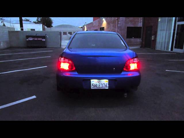 2004 Subaru WRX Hybrid TD04 Open Downpipe Exhaust