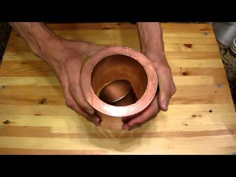 Вот что будет, если бросить магнит в медную трубу...