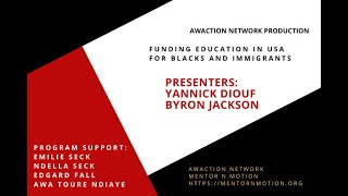 Funding Education in USA for Blacks and Immigrants - Part 1