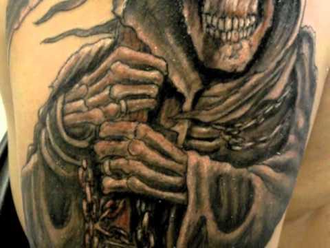Santa Muerte Tattoo Salt Lake Tattoo Youtube