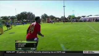 Jarvis Landry Catching Skills Challenge in 2016-2017 pro bowl! HE WON IT ALL