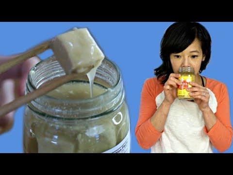 How to Eat TOFU CHEESE - Chinese FERMENTED TOFU Taste Test
