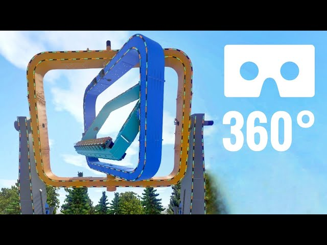 Roller Coaster 360 Spinning Twister Nintendo Virtual Reality VR Box Montañas rusas PSVR