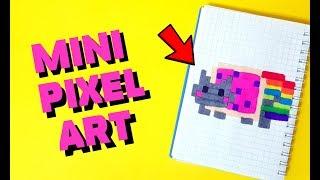САМЫЙ МАЛЕНЬКИЙ НЯН КЭТ В МИРЕ рисуем по клеточкам !!! (Nyan Cat ) PIXEL ART